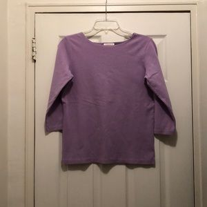 Light purple 3/4 sleeve top